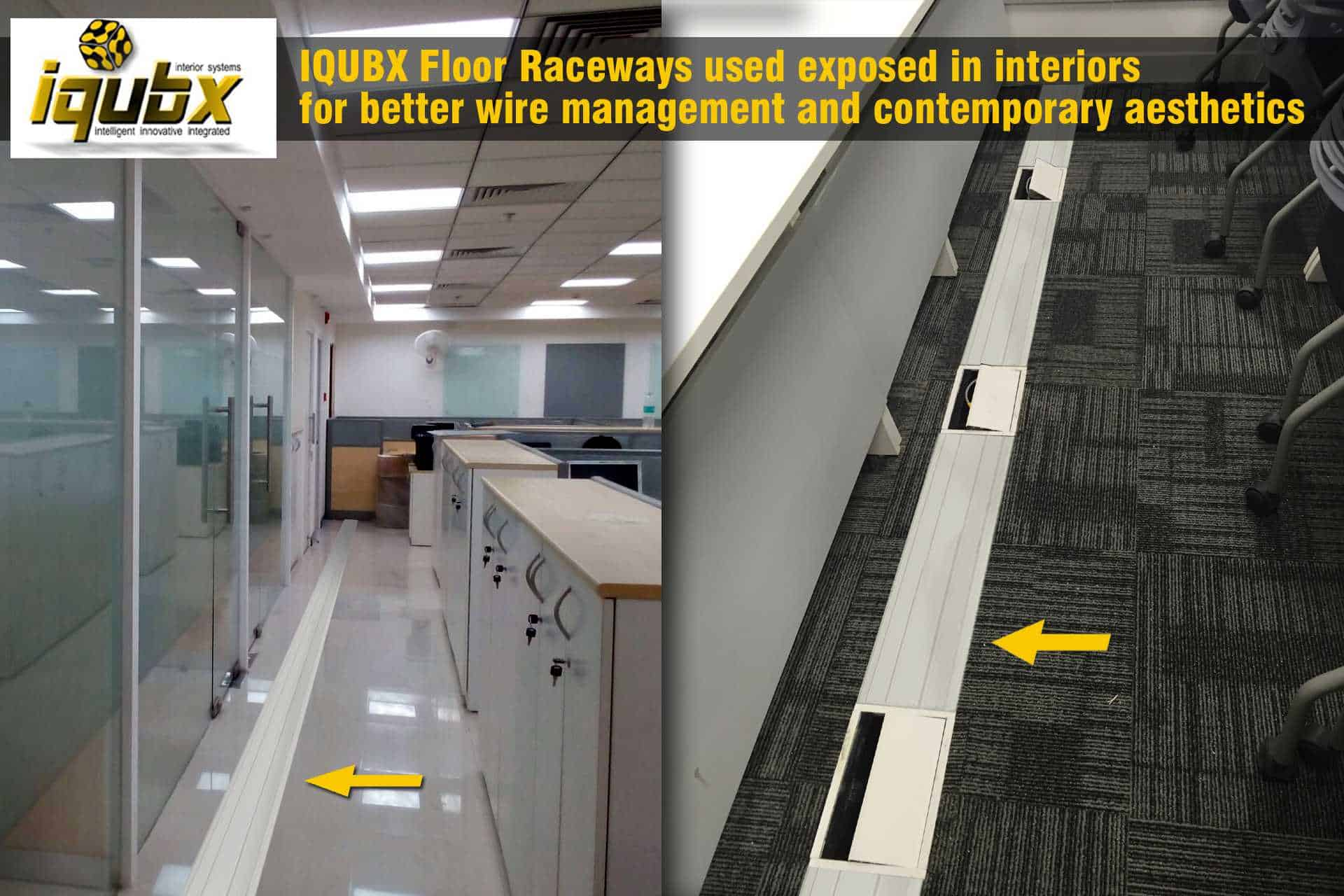 Exposed Floor cable Raceway is ideal for maintenance and looks very pleasing