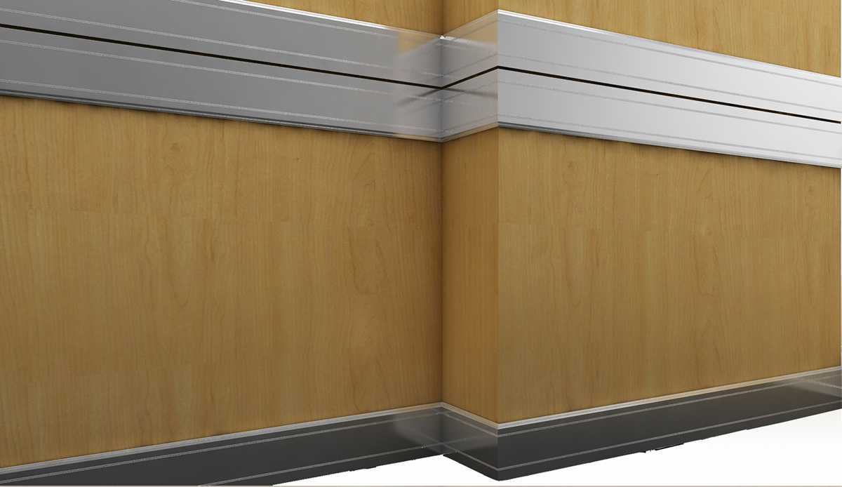 Aluminium Skirting board profile and chair rail trim