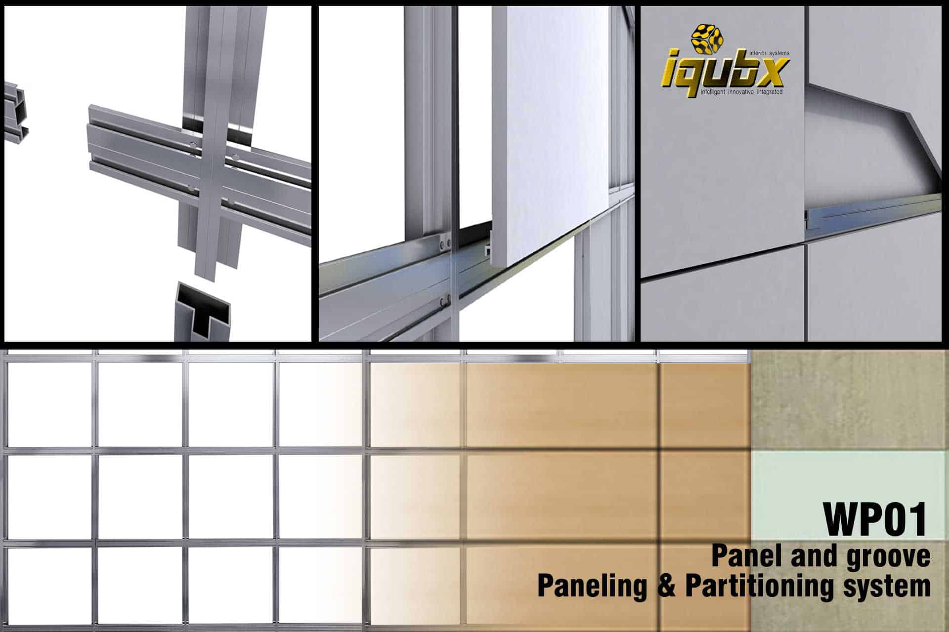 Iqubx WP01 panel and partitioning system assembly