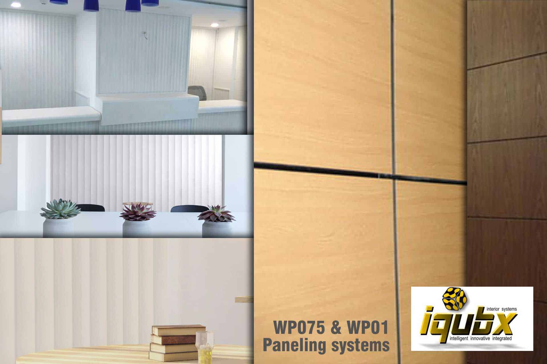 IQUBX panelling and partition systems are versatile and can take various finishes