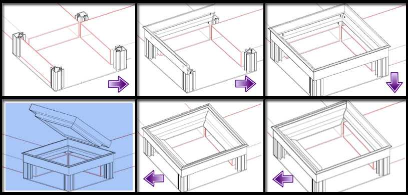 Assembly of IQUBX JB022 floor Junction Box is very easy and intutive