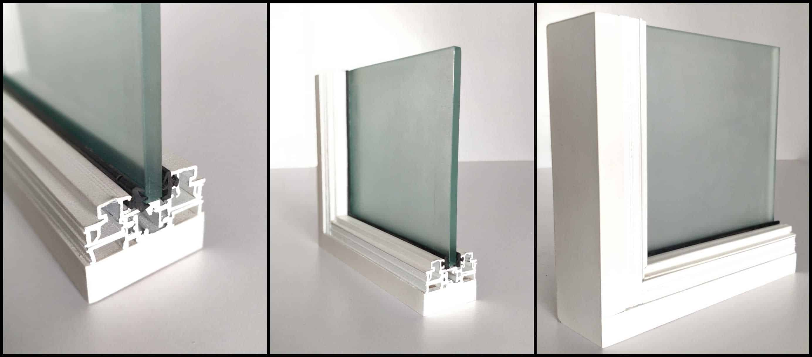 Glass partition system glassdoor door frame aluminium for Thickness of glass wall for exterior