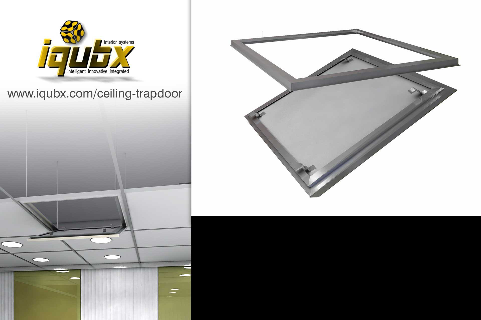 IQUBX access hatch ceiling trapdoor is simple and elegant solution