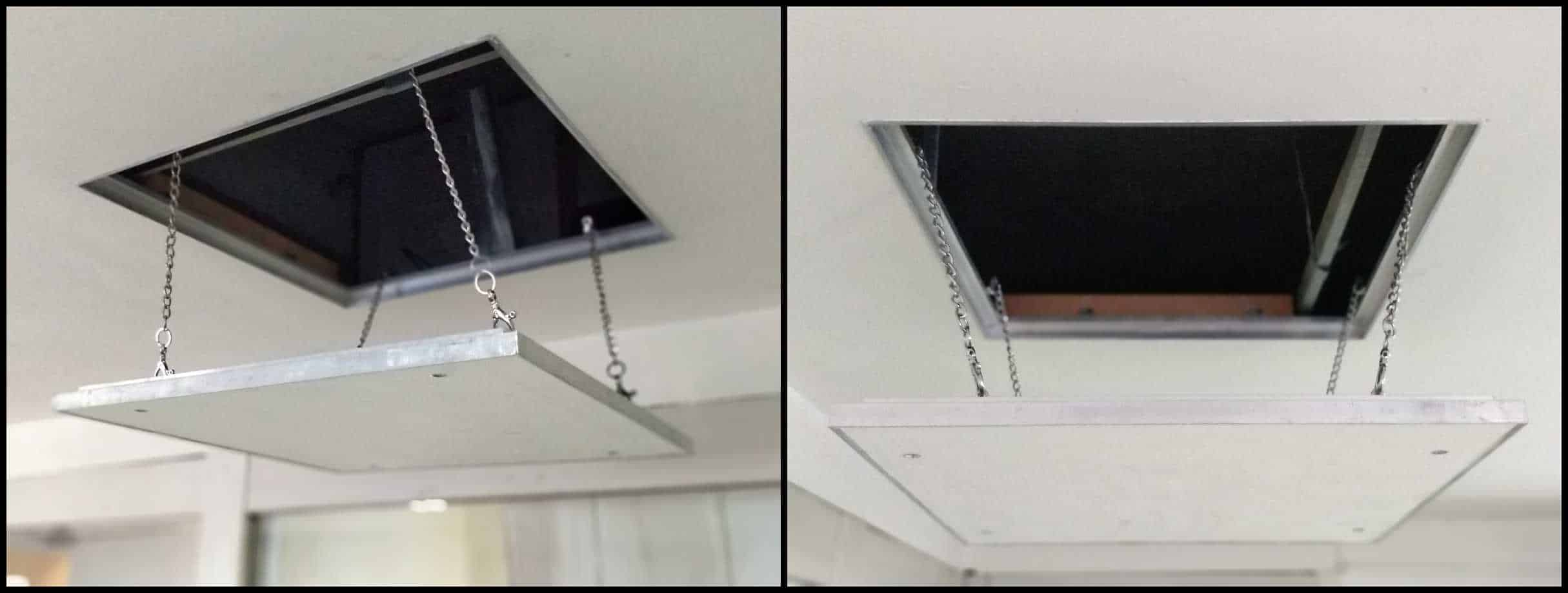And Helps In Transferring A Load Of Trapdoor Directly To The Roof Rather Than Putting On Ceiling Open Condition