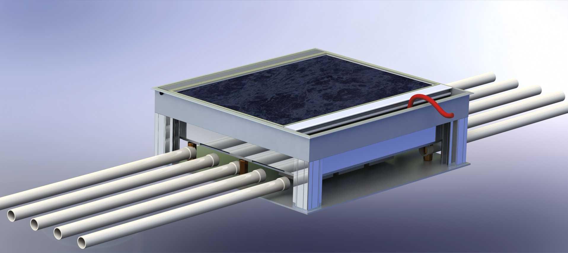 Electrical Floor Box Aluminium Recessed Floor Box Outlet