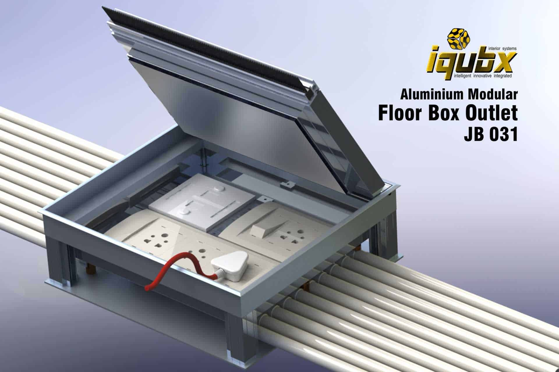 Features Of Iqubx Electrical Recessed Floor Box Outlet With Switch And  Sockets Suited For Data And Electrical Points