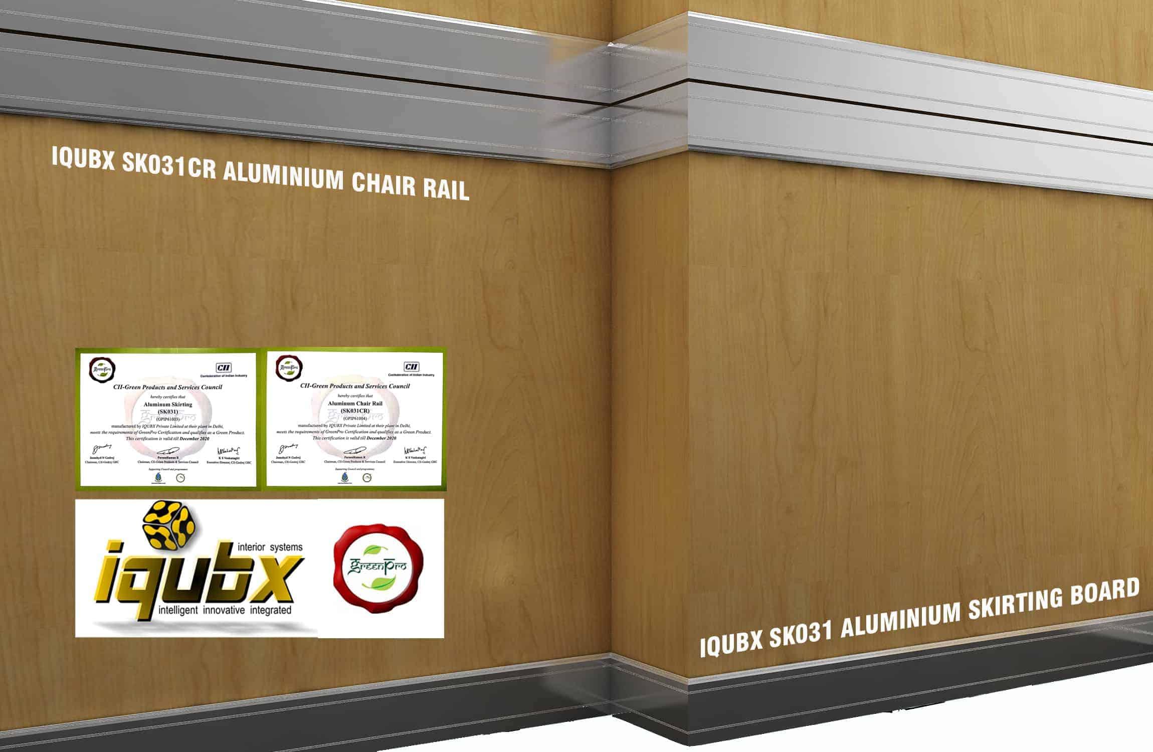 Wall Skirting Board Aluminium Amp Chair Rail Trim For Walls
