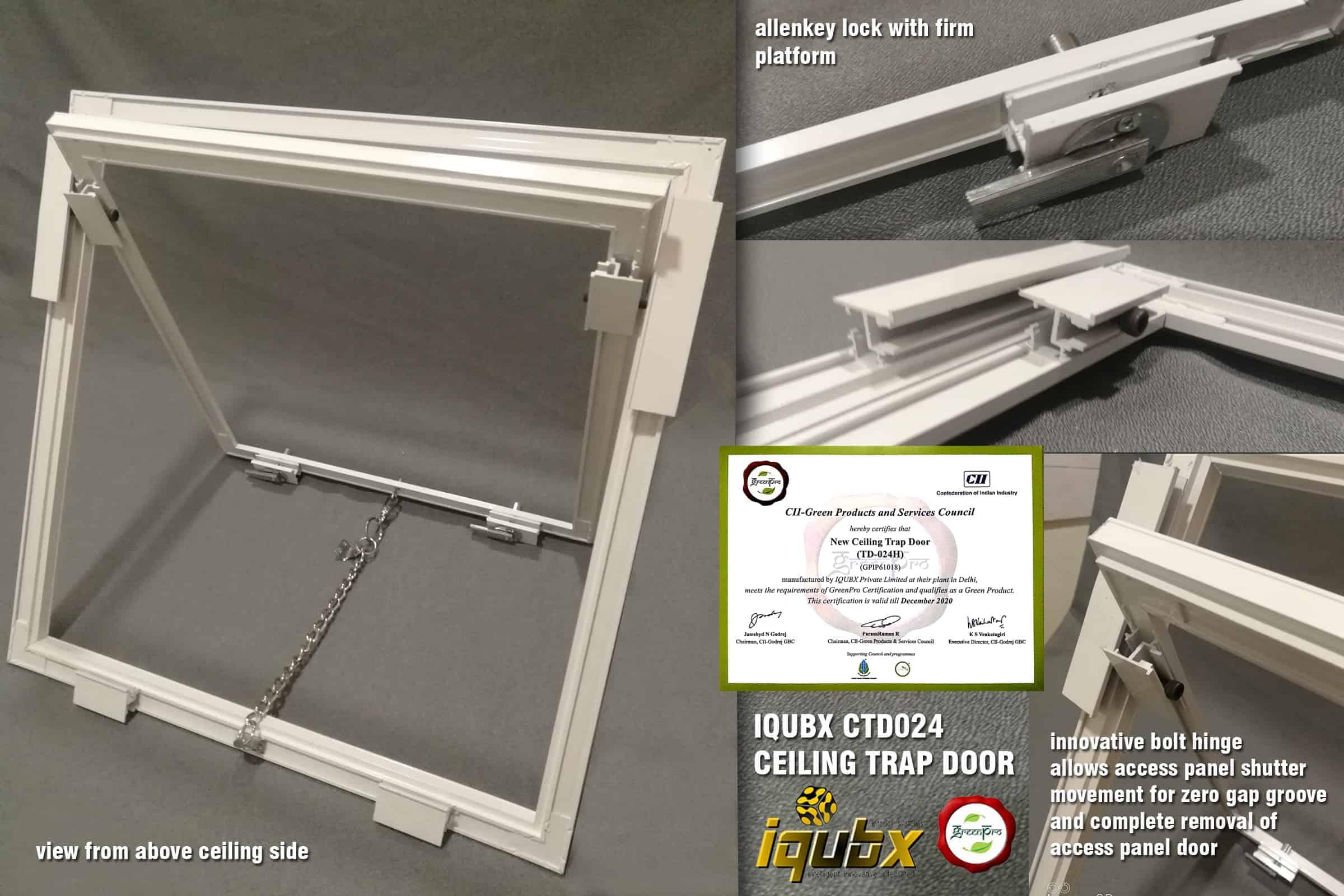 IQUBX CTD024 CEILING TRAP DOOR CONSTRUCTION