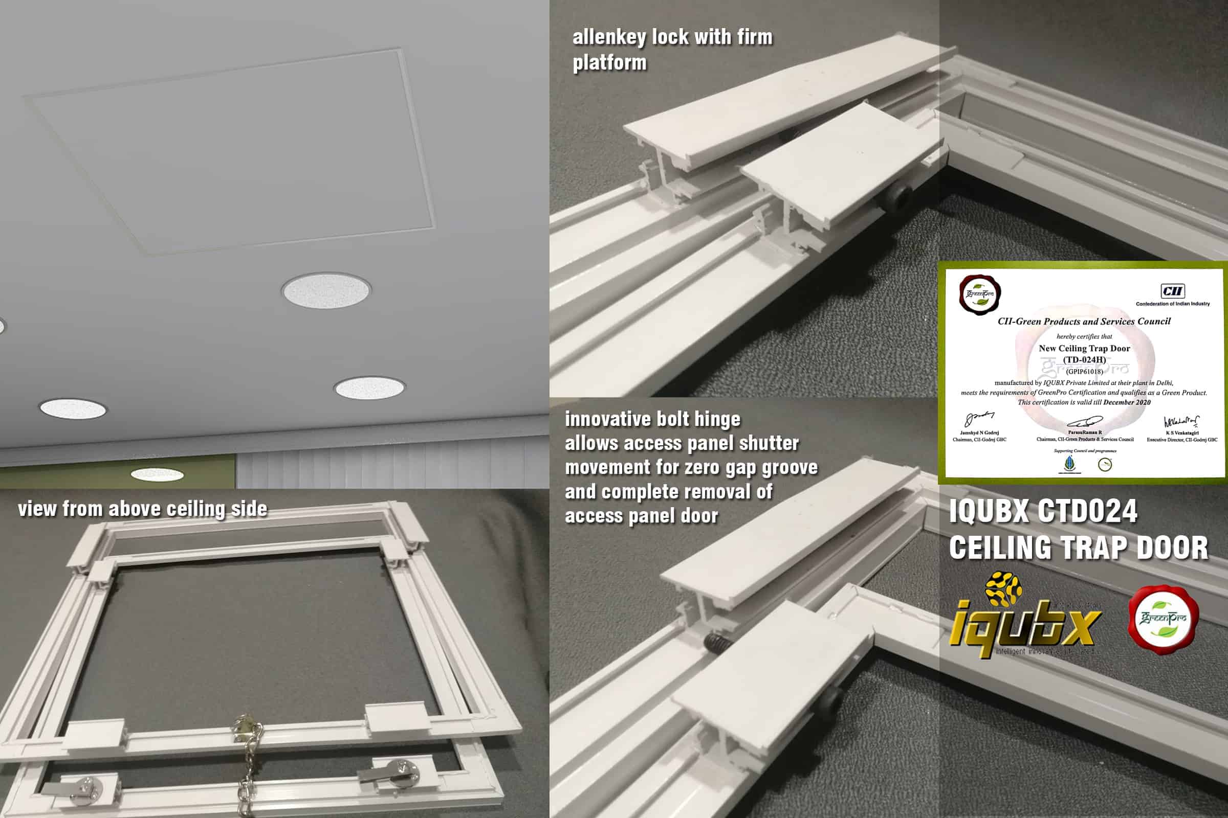 Access Ceiling Trap Door, GREENPRO certified Access Hatch System