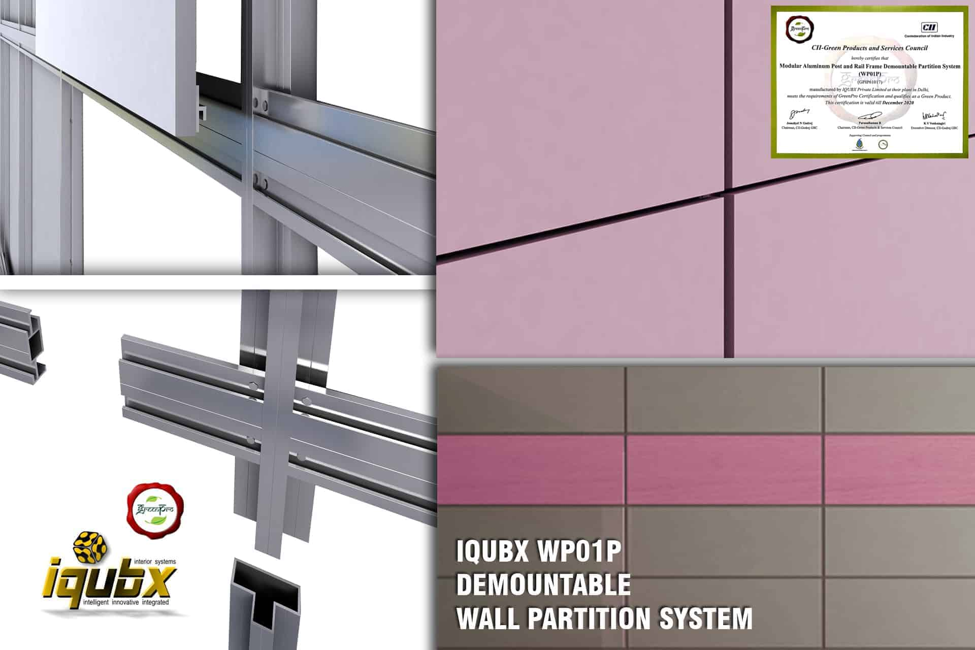 Demountable Partition Wall Modular Aluminium Office