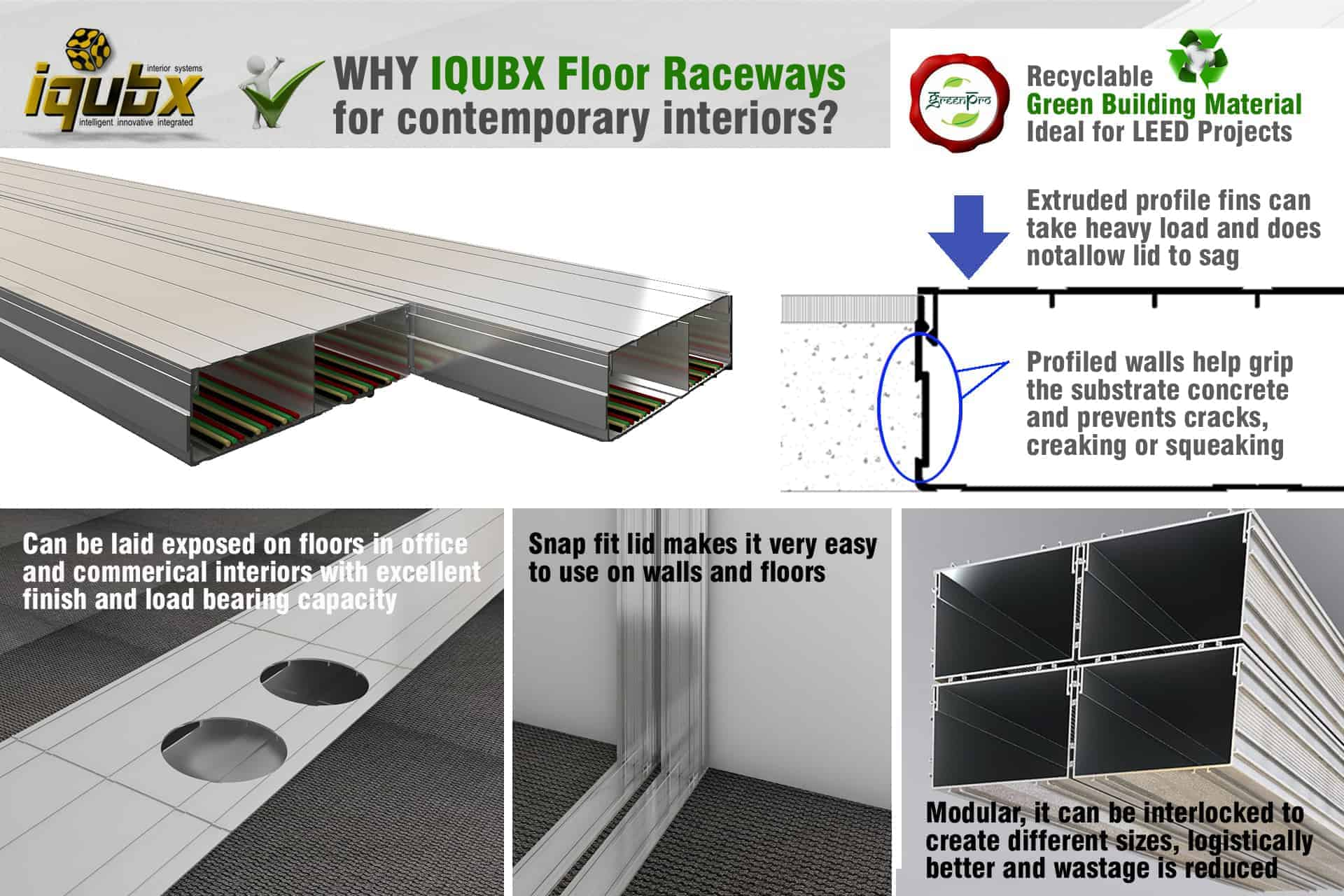 advantages of IQUBX floor raceway