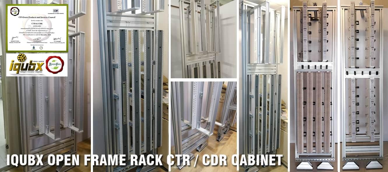 ctr cdr iqubx open frame rack