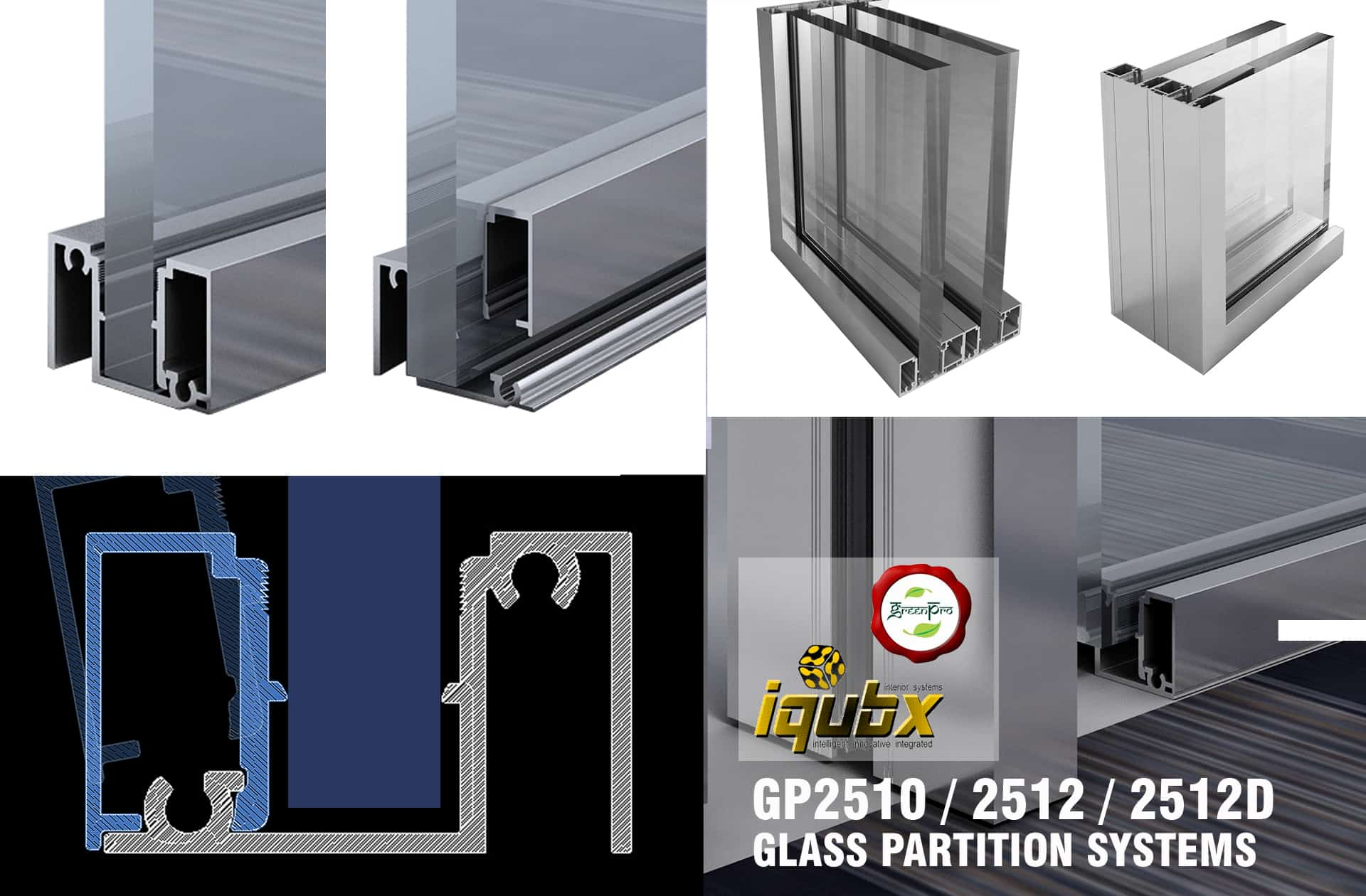 gp2510 certified iqubx glass partition systems
