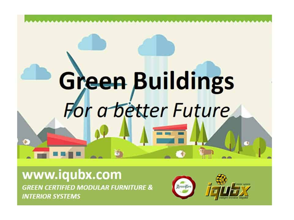 Green building for a beeter future - IQUBX certified modular furniture and interior systems